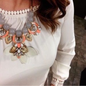 Jewelry - Taupe | Orange  Fashion Necklace